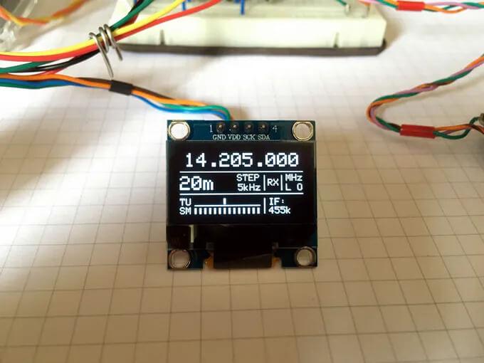 Отображаемая информация на экране OLED дисплея