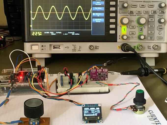 Формирование с помощью генератора синусоидального сигнала