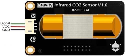 Назначение контактов (распиновка) инфракрасного датчика гравитации CO2