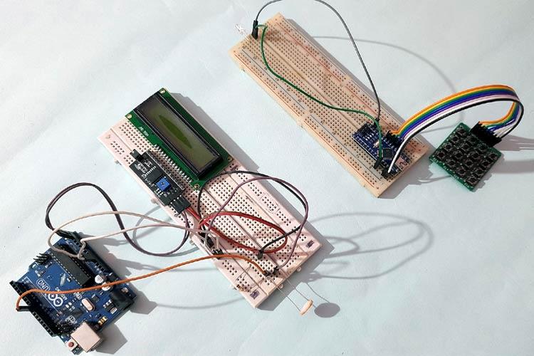 Внешний вид проекта Li-Fi связи между двумя платами Arduino