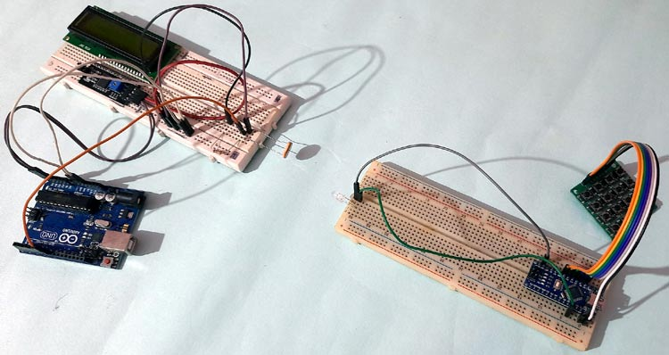 Внешний вид полностью собранной контсрукции проекта для Li-Fi связи