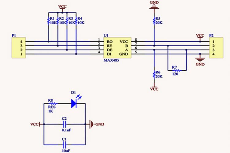 Способы подключения модуля MAX485