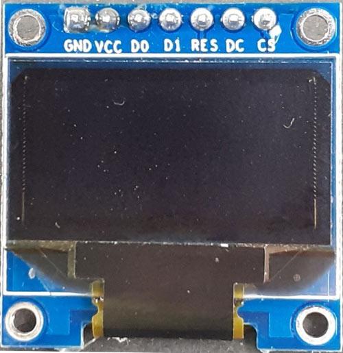 Внешний вид модуля OLED дисплея с поддержкой интерфейса SPI
