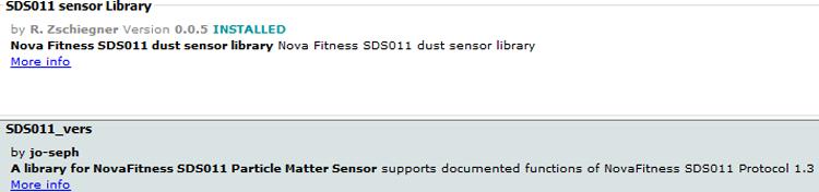 Установка библиотеки SDS011