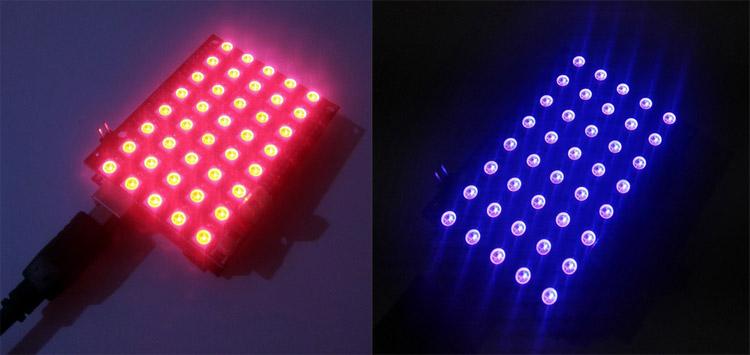 Тестирование работы шилда цветной светодиодной матрицы
