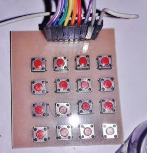 Внешний вид клавиатуры (клавишной панели) 4x4