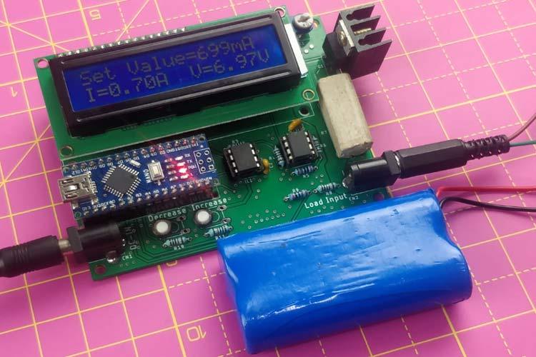 Внешний вид регулируемой электронной нагрузки постоянного тока на основе платы Arduino