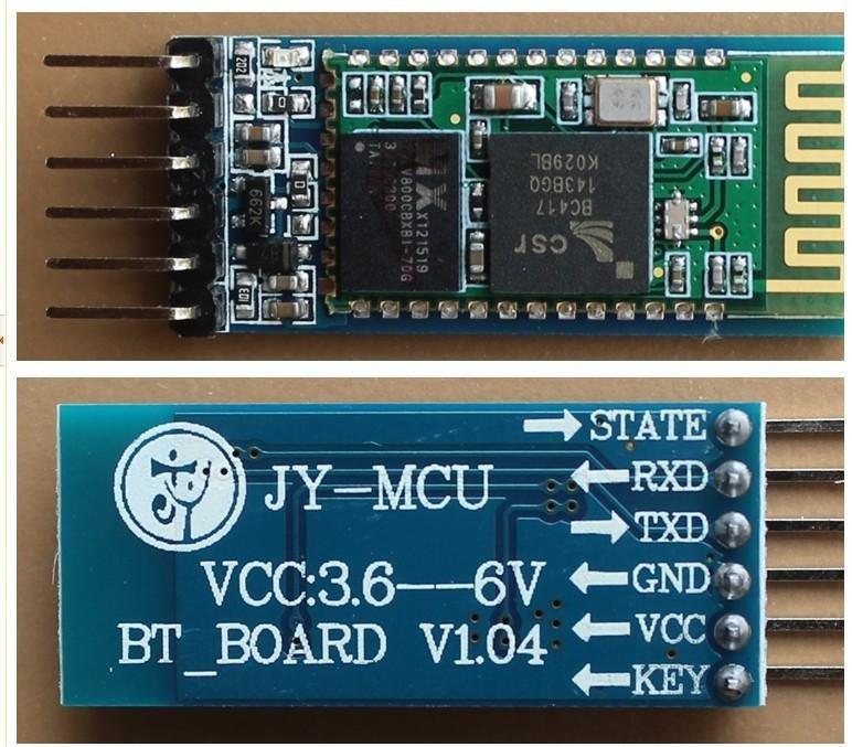 Внешний вид и распиновка Bluetooth модуля HC-06