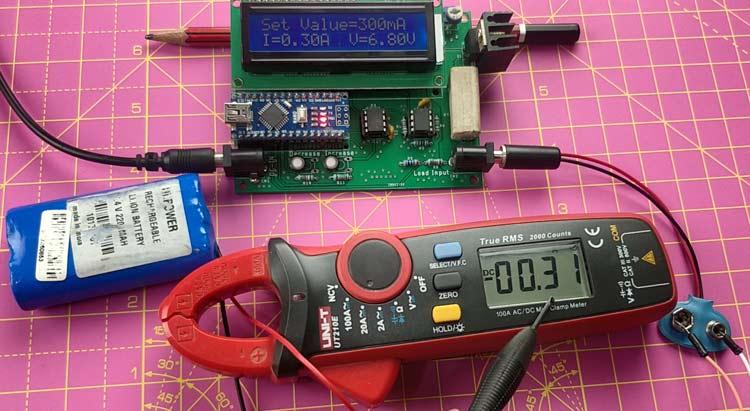 Тестирование работы регулируемой электронной нагрузки постоянного тока