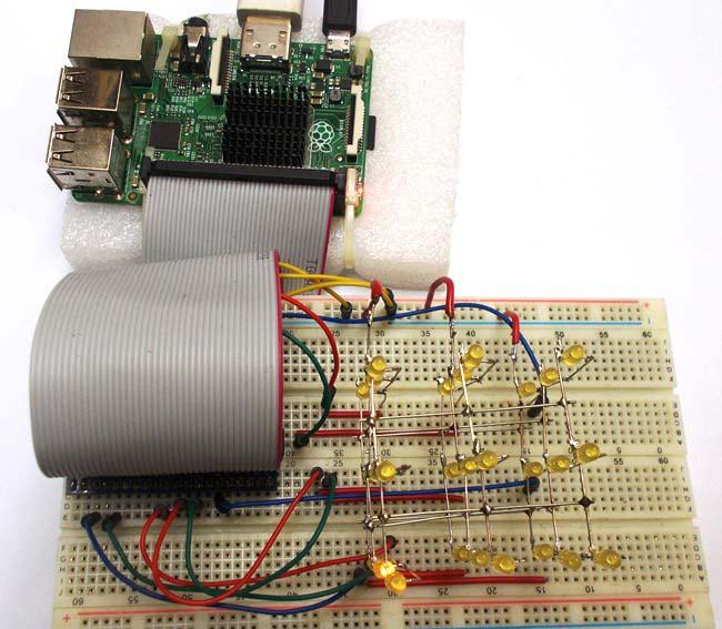 Внешний вид светодиодного куб 3x3x3 на основе платы Raspberry Pi