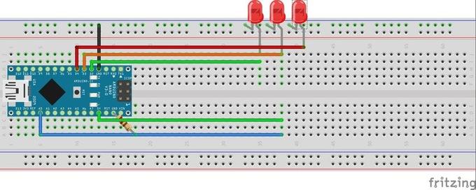 Схема детектора лжи на основе платы Arduino Nano