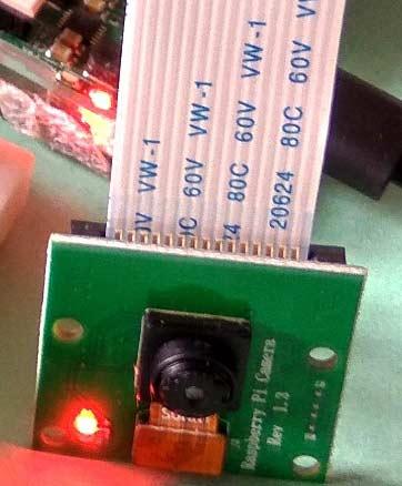 Подключение камеры к плате Raspberry Pi крупным планом