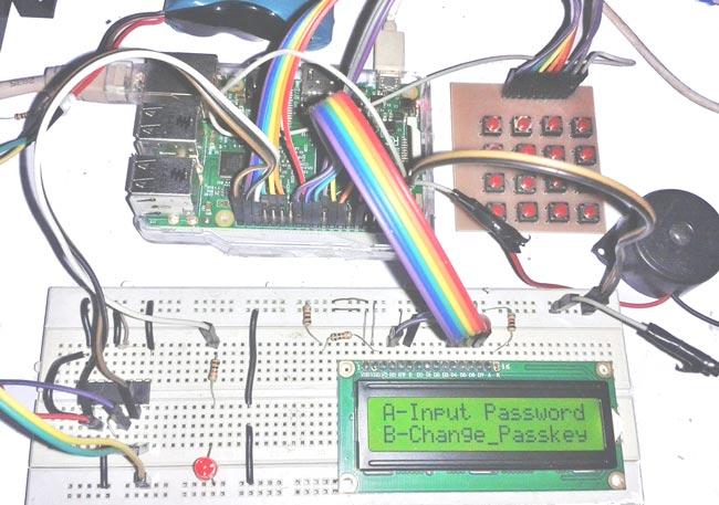 Внешний вид цифрового кодового замка на Raspberry Pi