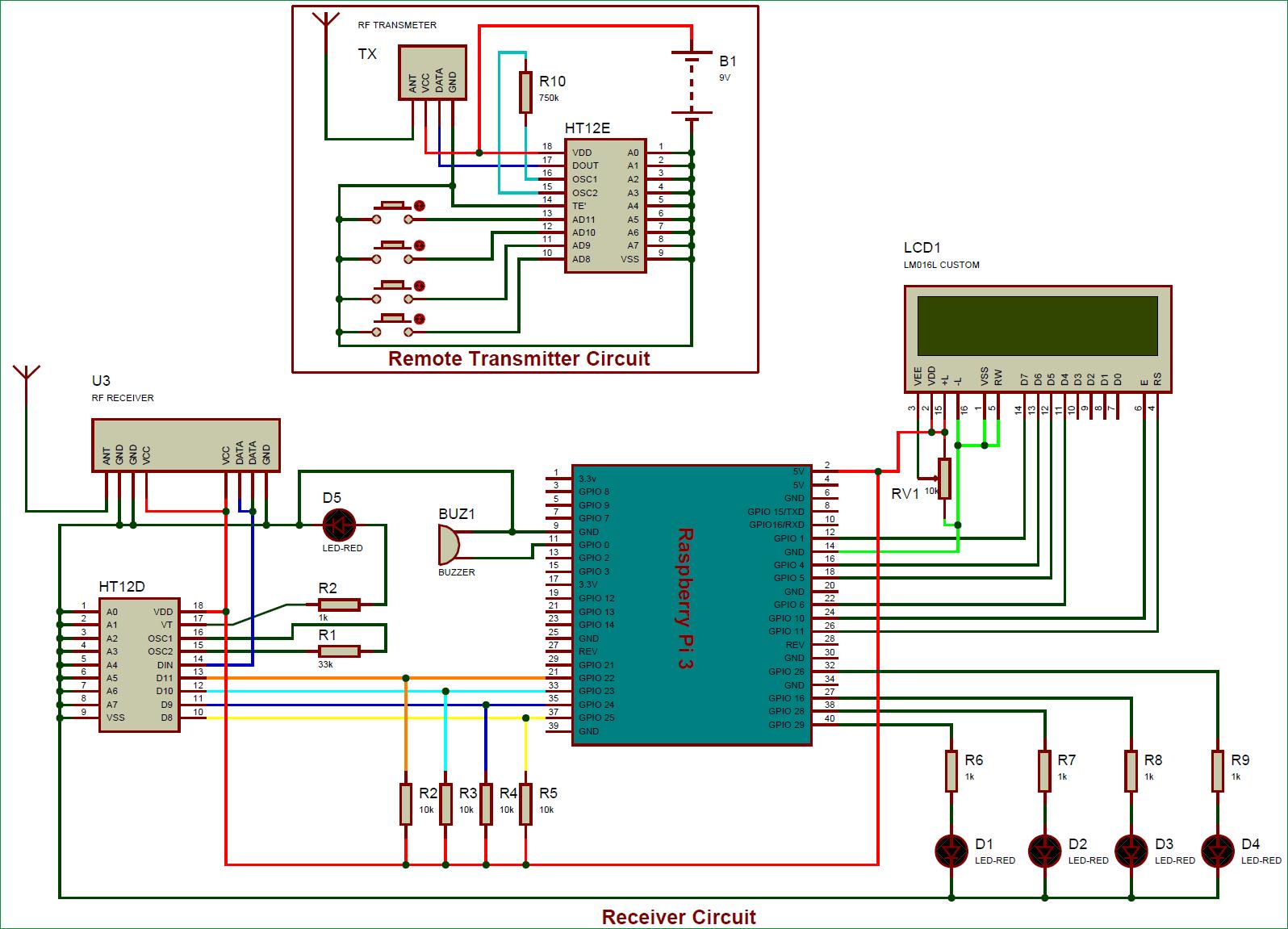Схема управления светодиодами по радиоканалу с помощью Raspberry Pi