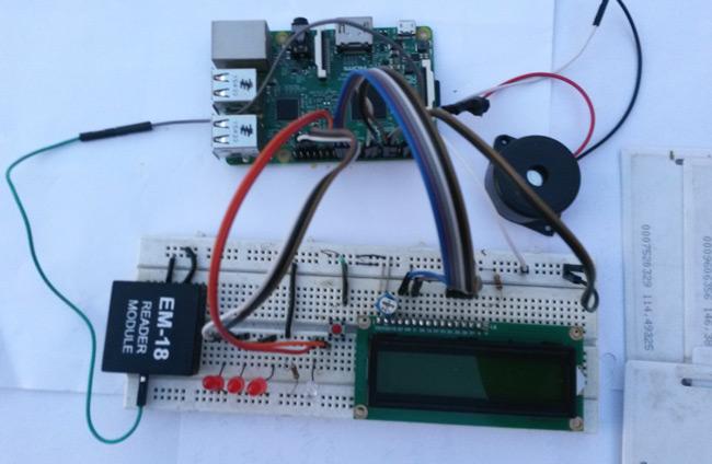 Внешний вид системы контроля доступа на Raspberry Pi и радиочастотной идентификации