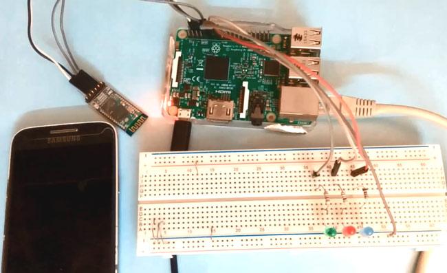 Внешний вид проекта управления голосом с помощью Raspberry Pi и Bluetooth