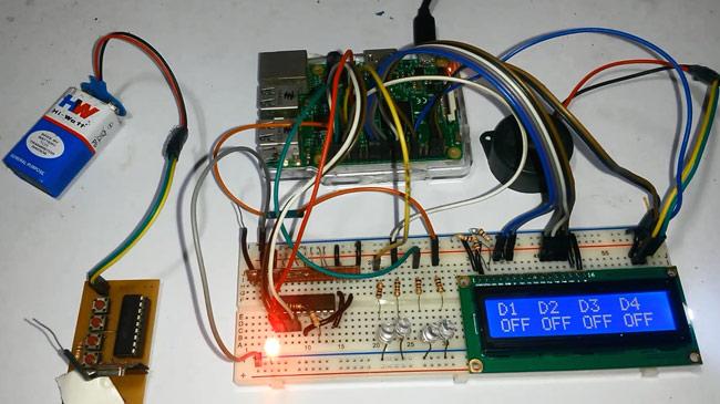 Внешний вид проекта управления светодиодами по радиоканалу с помощью Raspberry Pi