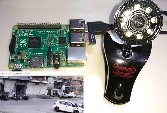 Внешний вид камеры видеонаблюдения на Raspberry Pi с захватом движения