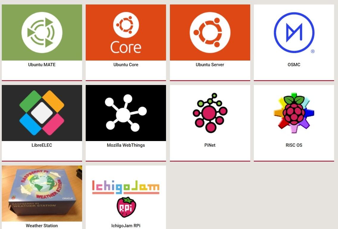 Доступные альтернативные операционные системы для Raspberry Pi