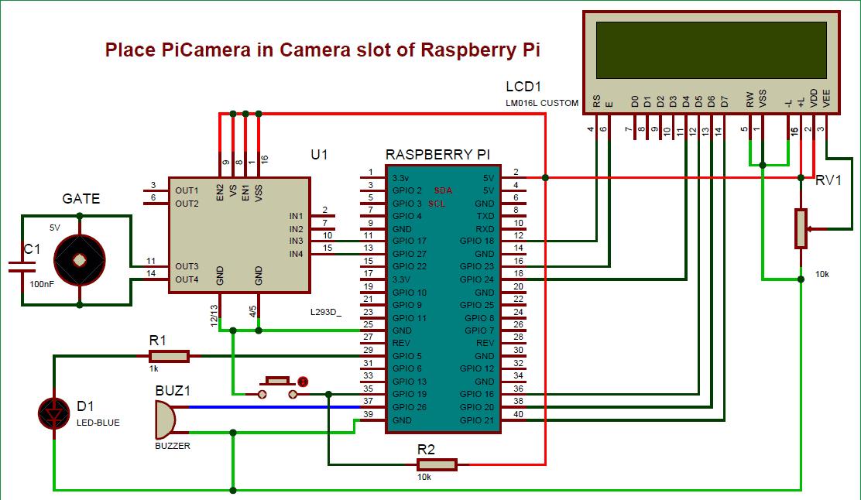 Схема системы мониторинга посетителей на Raspberry Pi и камеры