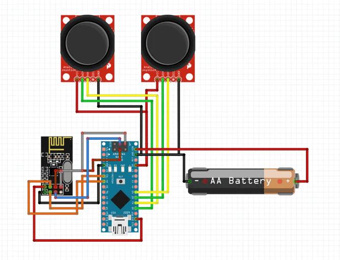 Схема пульта дистанционного управления на основе платы Arduino