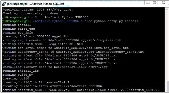 Установка библиотеки для работы с OLED дисплеем SSD1306