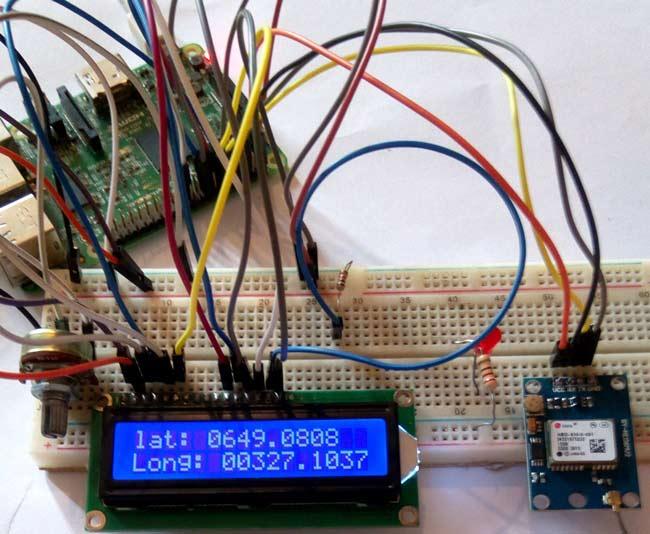 Внешний вид подключения GPS модуля к Raspberry Pi