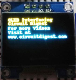 OLED дисплей SSD1306 в работе