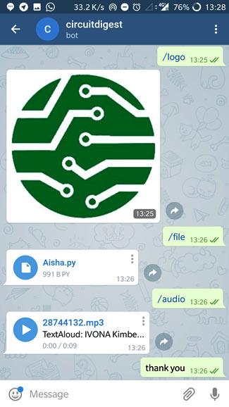 Передача команд плате с помощью бота Telegram (часть 2)