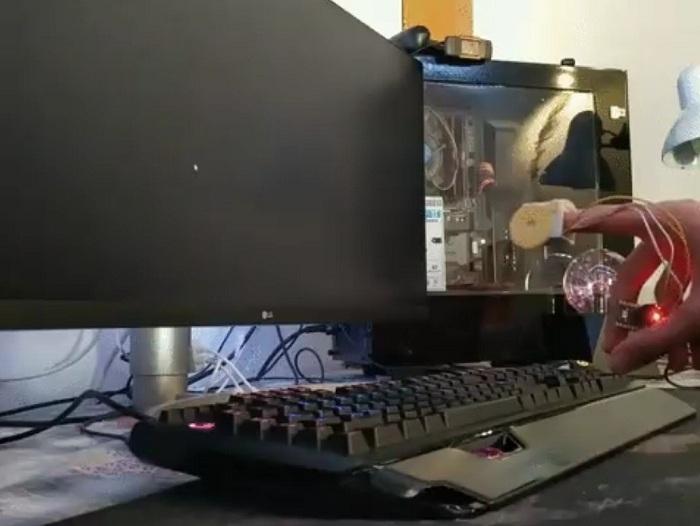 Внешний вид проекта управления мышкой компьютера с помощью пальцев и Arduino