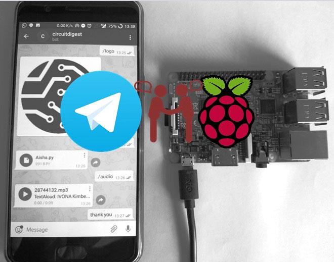 Внешний вид проекта использования Telegram бота вместе с платой Raspberry Pi