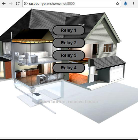 Внешний вид веб-страницы для проекта автоматизации дома
