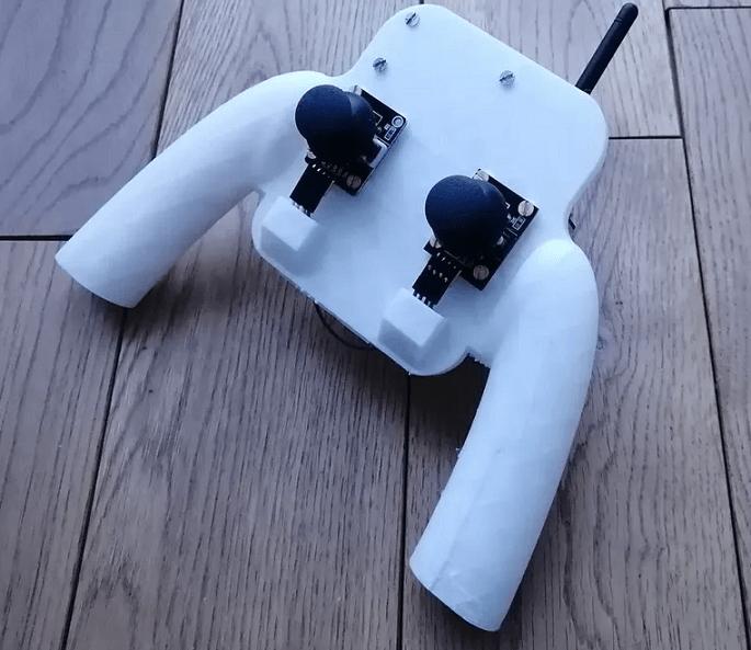 Внешний вид пульта дистанционного управления дроном на Arduino