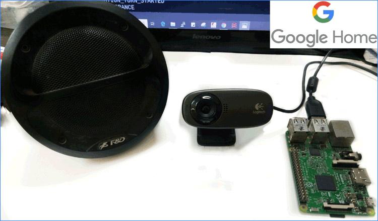 Внешний вид умной колонки на основе Raspberry Pi и Google Assistant