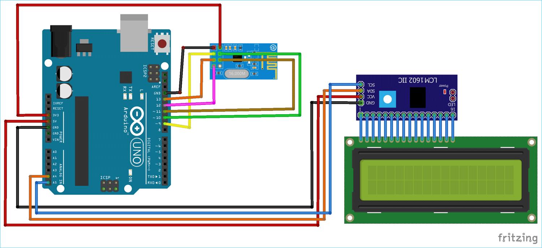 Схема подключения модуля nRF24L01 к плате Arduino