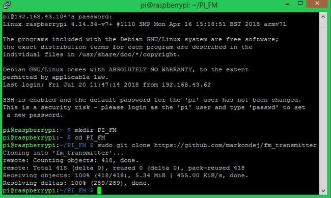 Завершение процесса клонирования программы с радио передатчиком