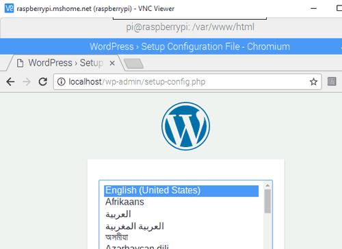 Выбор предпочитаемого языка при создании сайта на WordPress
