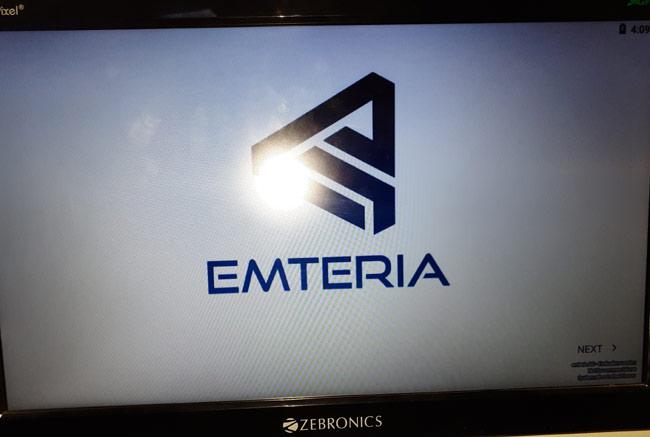 Процесс загрузки emteria.OS завершен