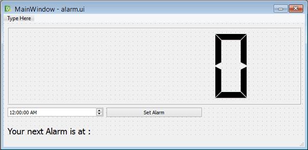 Внешний вид интерфейса нашего говорящего будильника