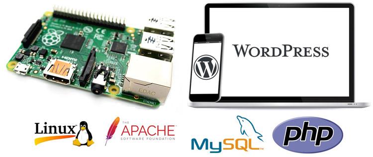 Внешний вид проекта веб-сервера на Raspberry Pi с хостингом сайта на WordPress