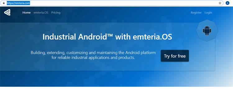 Внешний вид главной страницы сайта emteria.com