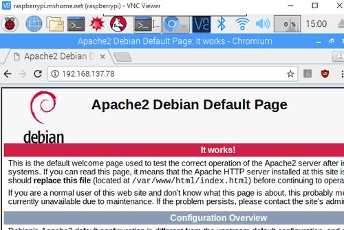 Стартовая страница Apache