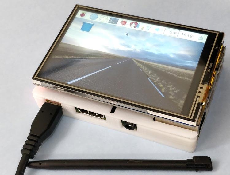 Внешний вид подключения к Raspberry Pi сенсорного TFT ЖК дисплея 3,5 дюйма