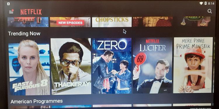 Установленное приложение Netflix на Raspberry Pi