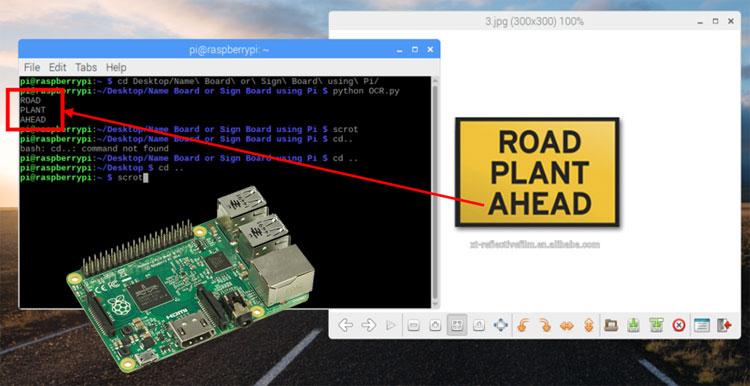 Внешний вид проекта оптического распознавания символов в Raspberry Pi с помощью Tesseract