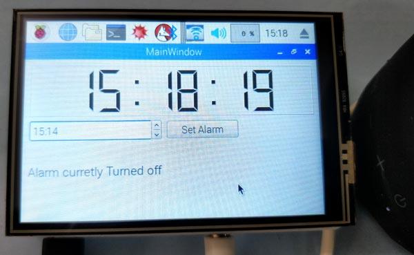 Тестирование работы говорящего будильника