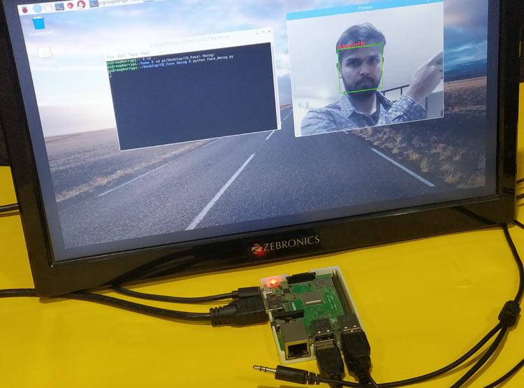 Внешний вид проекта распознавания лиц с помощью Raspberry Pi и библиотеки OpenCV