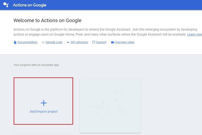 Начало работы с Google Console Actions