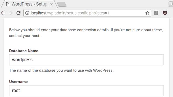 Заполнение настроек WordPress сайта
