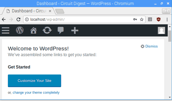Начало работы с WordPress сайтом